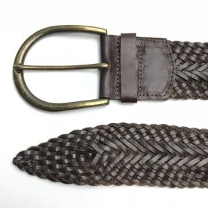Brave Accessories - Brave Beltworks Wide Buckle Braided Leather Belt